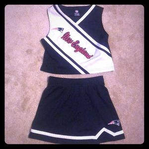 Girls New England Patriots cheerleader set